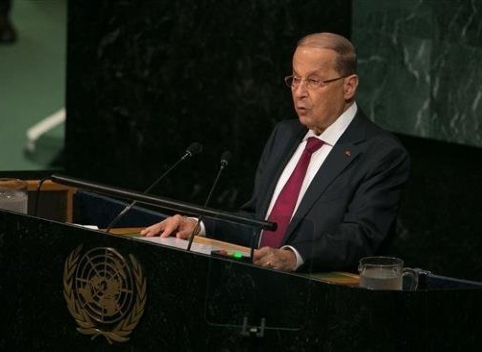 Lebanon president complains to UN of double standard in treatment of Israel, Palestinians