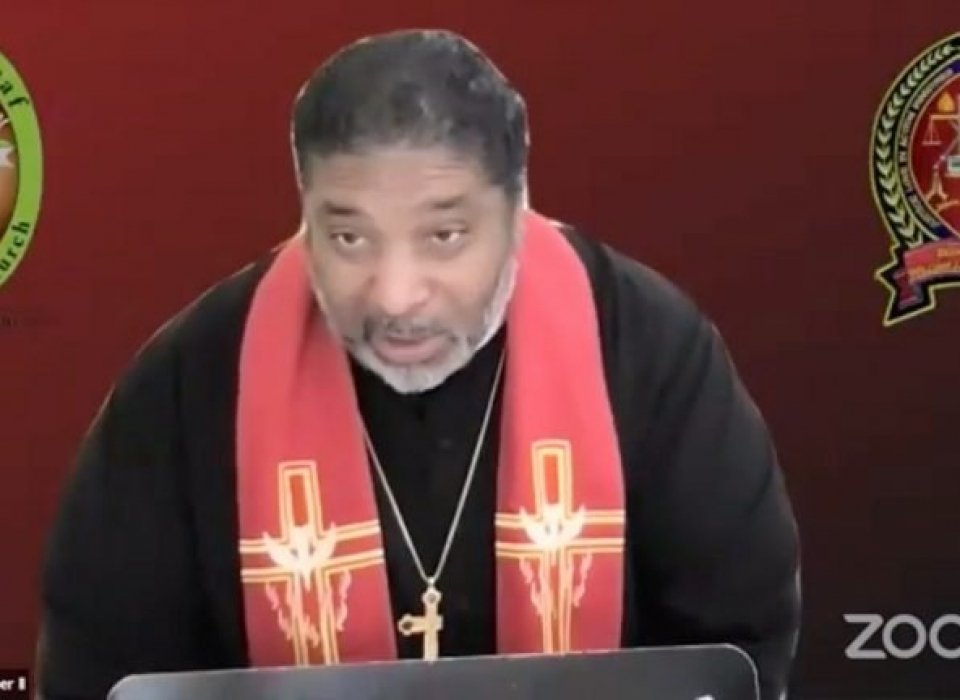 William Barber preaches at Easter vigil service spotlighting Christian Palestinians